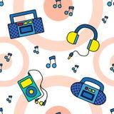 Nahtloses Tonbandgerätmuster Stockbilder
