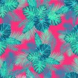 Nahtloses tropisches exotisches Palmblatt-Muster Lizenzfreie Stockfotografie