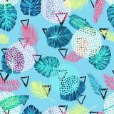 Nahtloses tropisches exotisches Palmblatt-Muster Lizenzfreie Stockbilder