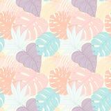 Nahtloses tropisches Palmblattmuster Stockfoto