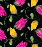 Nahtloses Tulpenblumenmuster stock abbildung