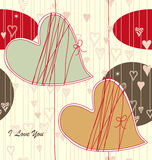 Nahtloses Valentinsgruß-Muster Stockfotos