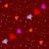 Nahtloses Valentinsgrußmuster Stockbilder