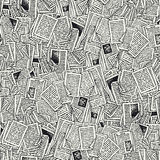 Nahtloses Vektor-Muster mit Buch-Seiten Stockbild