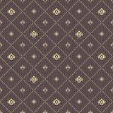 Nahtloses Vektor-Muster mit königlicher Lilie Lizenzfreie Stockbilder