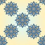 Nahtloses Vektorblumen-Mandalamuster lizenzfreie abbildung