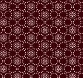 Nahtloses Vektorburgunder-Blumenpunktmuster Stockfoto