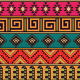 Nahtloses Vektormuster in der ethnischen Art Lizenzfreies Stockfoto