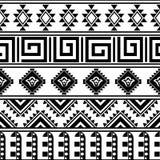 Nahtloses Vektormuster in der ethnischen Art Stockbild