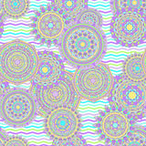 Nahtloses Vektormuster der Mandala Lizenzfreies Stockfoto