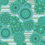 Nahtloses Vektormuster der Mandala Stockbilder
