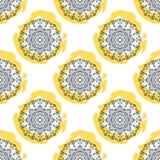 Nahtloses Vektormuster der Mandalablume wiederholen Stockfoto
