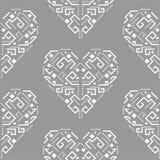 Nahtloses Vektormuster der Navajoherzformverzierung Stockfoto
