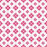 Nahtloses Vektormuster der roten Herzformblumen stockbilder