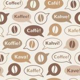 Nahtloses Vektormuster des Kaffees Stockbilder