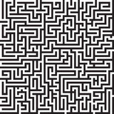 Nahtloses Vektormuster des Labyrinths Stockfotos