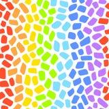 Nahtloses Vektormuster des Regenbogenmosaiks Stockfoto