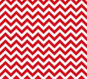Nahtloses Vektormuster des roten und weißen Zickzacks stockbilder
