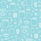 Nahtloses Vektormuster des Wäsche-Service Lizenzfreie Stockfotos