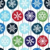 Nahtloses Vektormuster des Winters oder des neuen Jahres Lizenzfreies Stockbild