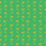 Nahtloses Vektormuster, grüner Blumenhintergrund Lizenzfreie Stockfotografie