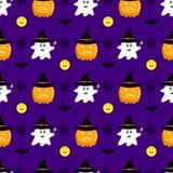 Nahtloses Vektormuster Halloweens Lizenzfreie Stockbilder