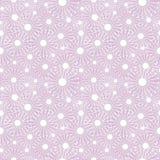 Nahtloses vektormuster Hellrosa Hintergrund des Saisonwinters mit Nahaufnahmeweißschneeflocken Stockfotos
