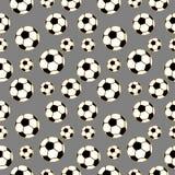 Nahtloses Vektormuster, Hintergrund mit Elementen des Fußballs Stockfotografie