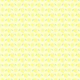 Nahtloses Vektormuster, matter symmetrischer Hintergrund mit Zitrone Lizenzfreies Stockfoto
