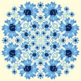 Nahtloses Vektormuster mit abstrakten Blumen Von Hand gezeichnet Blumenhintergrund Lizenzfreies Stockbild