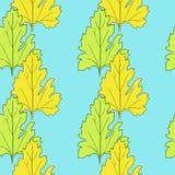Nahtloses Vektormuster mit Blättern Lizenzfreie Stockfotografie