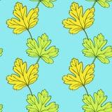 Nahtloses Vektormuster mit Blättern Lizenzfreies Stockfoto