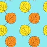 Nahtloses Vektormuster mit Blättern Stockfoto