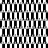 Nahtloses Vektormuster mit den Bleistiften Schwarzweiss Stockbilder