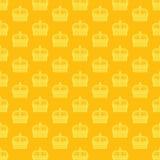 Nahtloses Vektormuster mit goldenen Kronen Lizenzfreies Stockfoto