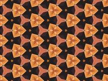 Nahtloses Vektormuster mit hellen abstrakten geometrischen Formen Lizenzfreie Stockfotografie