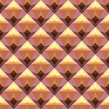 Nahtloses Vektormuster mit hellen abstrakten geometrischen Formen Stockbild