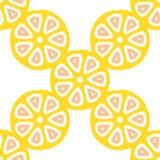 Nahtloses Vektormuster mit Zitrusfruchtschnitten Lizenzfreie Stockfotografie
