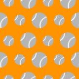 Nahtloses Vektormuster, orange Hintergrund mit Baseball Lizenzfreie Stockfotografie