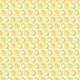Nahtloses Vektormuster, symmetrischer Hintergrund der Matte mit Aprikose Lizenzfreie Stockfotografie