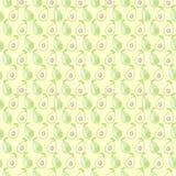 Nahtloses Vektormuster, symmetrischer Hintergrund der Matte mit Avocado Stockfotografie