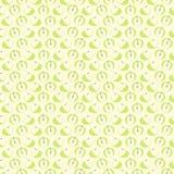 Nahtloses Vektormuster, symmetrischer Hintergrund der Matte mit Elementen von Äpfeln Stockbilder