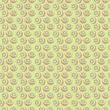Nahtloses Vektormuster, symmetrischer Hintergrund mit Elementen der Kiwi Lizenzfreie Stockbilder