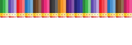 Nahtloses Vektormuster von Bleistiften mit Radiergummi Stockfoto