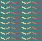 Nahtloses Vektorsparrenmuster Arbeiten Sie Zickzackmuster in den Retro- Farben, nahtlosen Vektorhintergrund um Stockfotos
