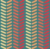 Nahtloses Vektorsparrenmuster Arbeiten Sie Zickzackmuster in den Retro- Farben, nahtlosen Vektorhintergrund um Stockfotografie