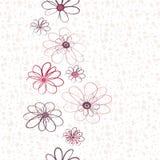 Nahtloses vertikales mit Blumenmuster Stockbilder