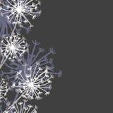 Nahtloses vertikales Muster in der strengen Blumenart Lizenzfreie Stockbilder