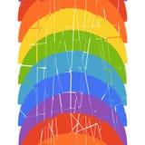 Nahtloses vertikales Muster mit Regenbogen Stockfotos