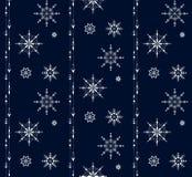 Nahtloses Verzierungsmuster der Schneeflocke Stockbilder
